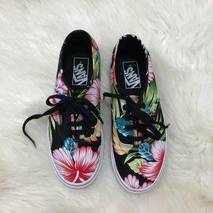 Vans Dark Floral Low Top Shoes